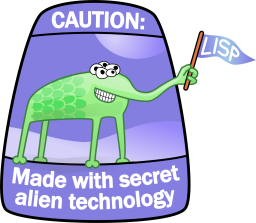 The alien waves its 'lisp' flag